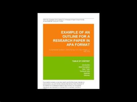 Creative research paper formats